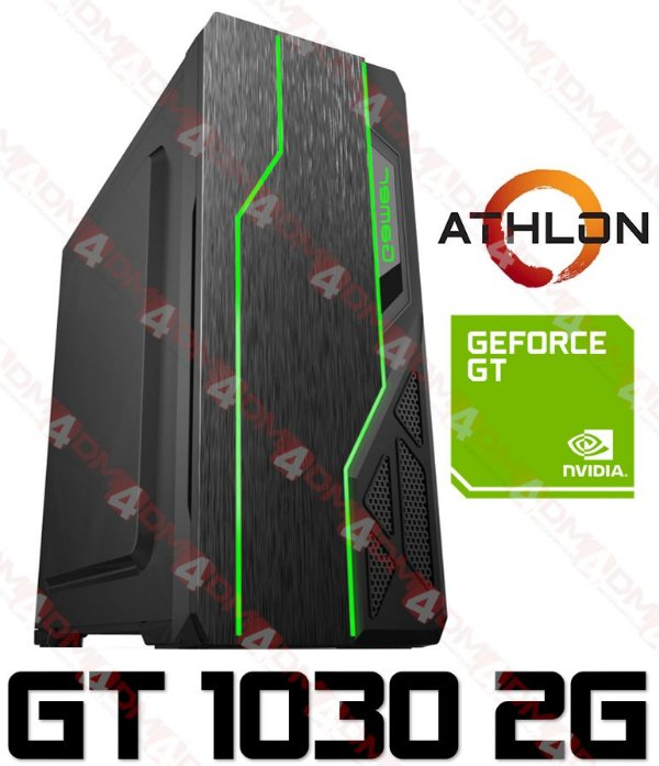 PC Gamer MOBA AMD Athlon Dual Core 200GE, 8GB DDR4, HD 500GB, GPU GEFORCE GT 1030 2GB
