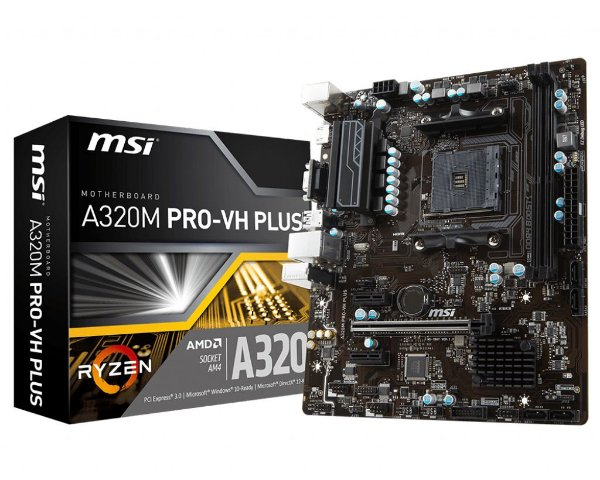 Placa Mãe MSI CHIPSET AMD A320M PRO-VH PLUS SOCKET AM4