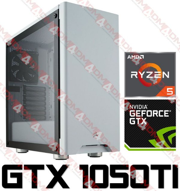 (Mega Recomendado) PC Gamer AMD Ryzen 5 2600, 16GB DDR4, SSD 240GB, HD 1TB, GPU GEFORCE GTX 1050TI OC 4GB