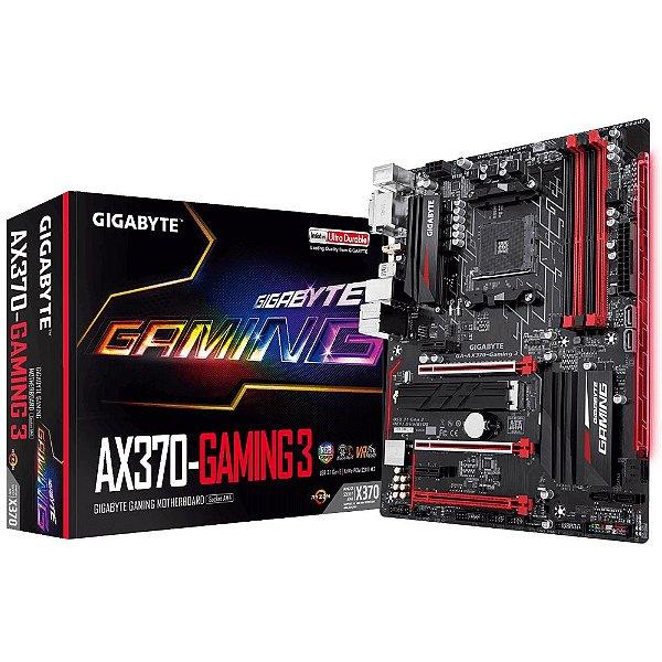 Placa Mãe GIGABYTE CHIPSET AMD AX370-GAMING 3 SOCKET AM4
