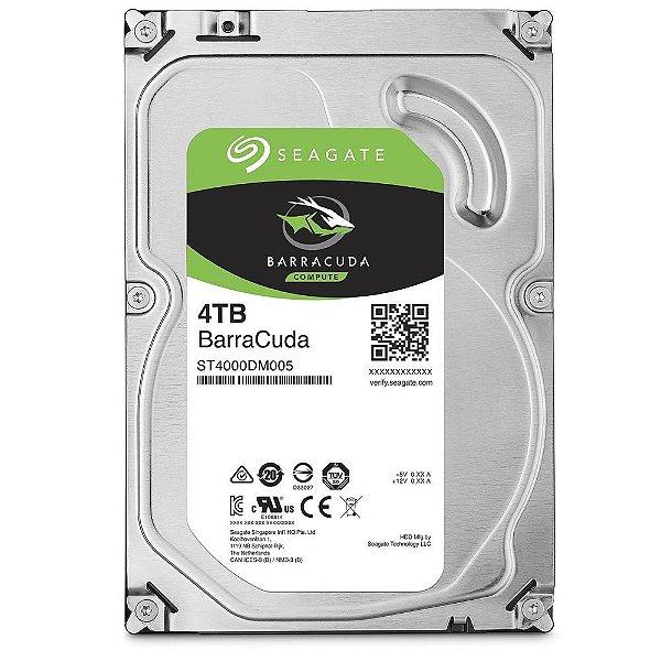 HD 4 Teras P/ Desktop Sata 6gbs 256MB Cache Seagate Barracuda 5400 RPM ST4000DM004