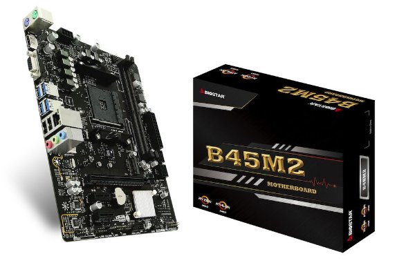 Placa Mãe CHIPSET AMD B350M BIOSTAR B45M2 SOCKET  AM4