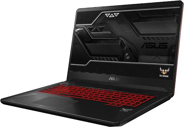 Notebook Gamer ASUS TUF Intel Core I7 8750H 2.2GHz, 16GB DDR4, SSD M.2 512GB, GPU Geforce GTX 1060 3GB, Tela LED 144Hz 17.3 Polegadas