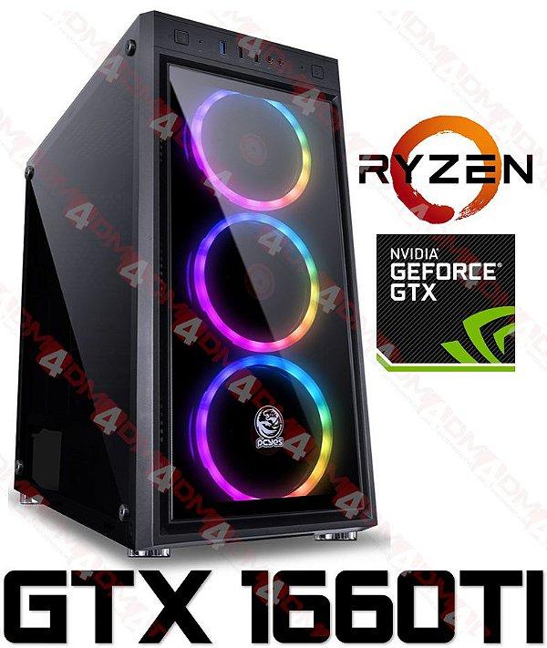 (Pra Queimar) PC Gamer AMD Ryzen 7 2700, 16GB DDR4, SSD 500GB, GPU GEFORCE GTX 1660TI OC 6GB