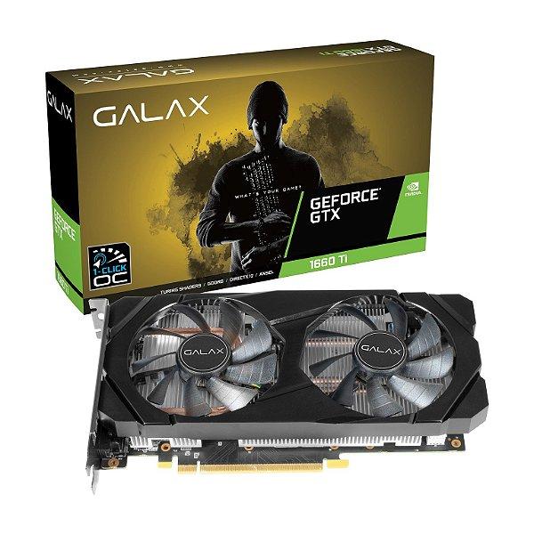 Placa de Vídeo GPU GEFORCE GTX 1660TI OC 1 CLICK 6GB GDDR6 192 BITS GALAX - 60IRL7DSY91C