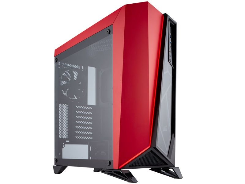 Gabinete Corsair Carbide SPEC-OMEGA Preto e Vermelho com Lateral em Vidro CC-9011120-WW