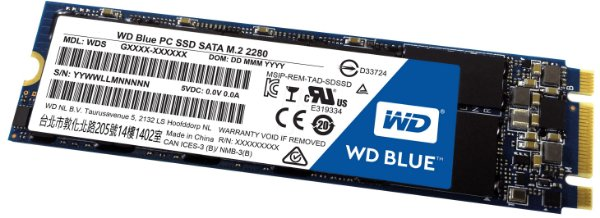 SSD Western Digital Blue M.2 2280 2TB Leituras: 560MB/s e Gravações: 530MB/s - WDS200T2B0B