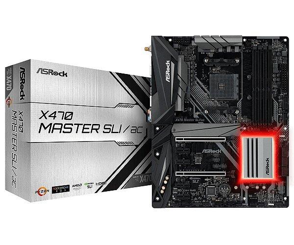 Placa Mãe ASrock Chipset AMD X470 MASTER SLI/AC SOCKET AM4