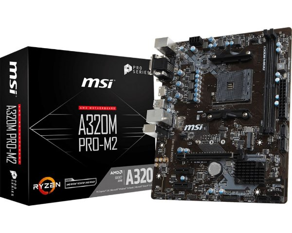 Placa Mãe CHIPSET AMD A320M PRO-M.2 v2 SOCKET AM4