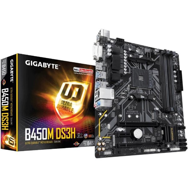 Placa Mãe GIGABYTE CHIPSET AMD B450M DS3H SOCKET AM4