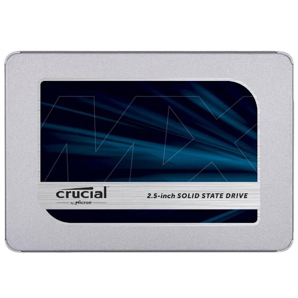 SSD Crucial MX500, 1TB, SATA, Leitura 560MB/s, Gravação 510MB/s - CT1000MX500SSD