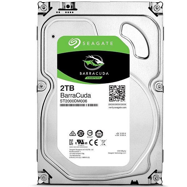 HD 2 Teras P/ Desktop Sata 6gbs 256MB Cache Seagate Barracuda 5400 RPM ST2000DM005
