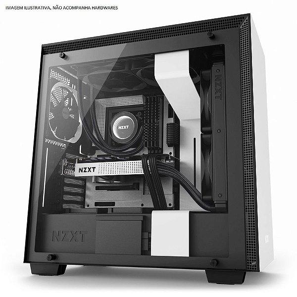 Gabinete ATX Gamer C/ Lateral em Vidro Temperado e USB 3.0 Frontal NZXT H700 MATTE WHITE - CA-H700B-W1