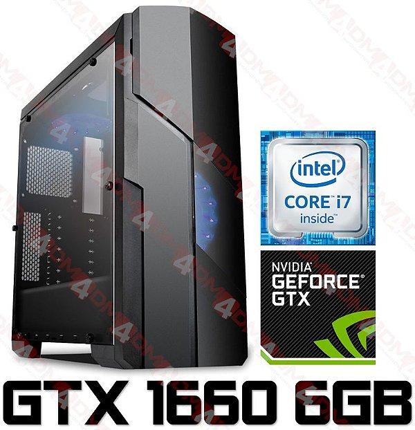 (OFERTA) PC Gamer Intel Core I7 Kaby Lake 7700K, 16GB DDR4, SSD 500GB, GPU GEFORCE GTX 1660 OC 6GB