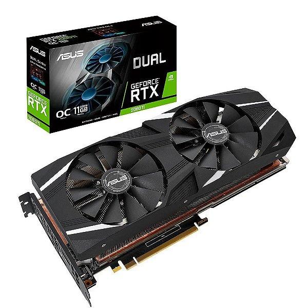 Placa de Vídeo GPU ASUS GEFORCE RTX 2080TI OC 11GB GDDR6 - 352 BITS PCI-E DUAL-RTX2080TI-O11G