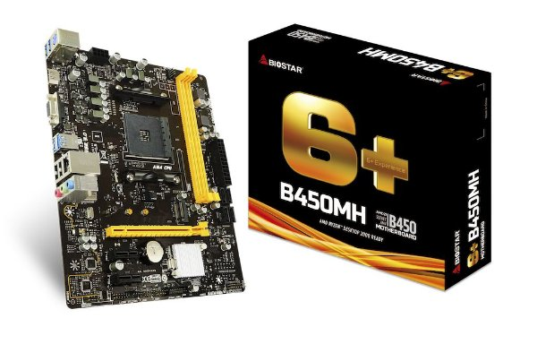 Placa Mãe BIOSTAR CHIPSET AMD B450MH SOCKET AM14