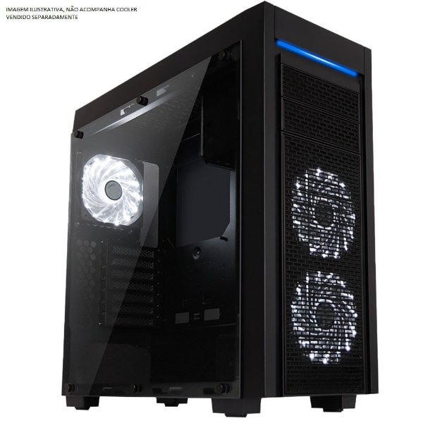 Gabinete Gamer FULL Tower Mymax Horus C/ Tampa Lateral em Vidro, USB 3.0 Frontal - MCA-HORUS/BK