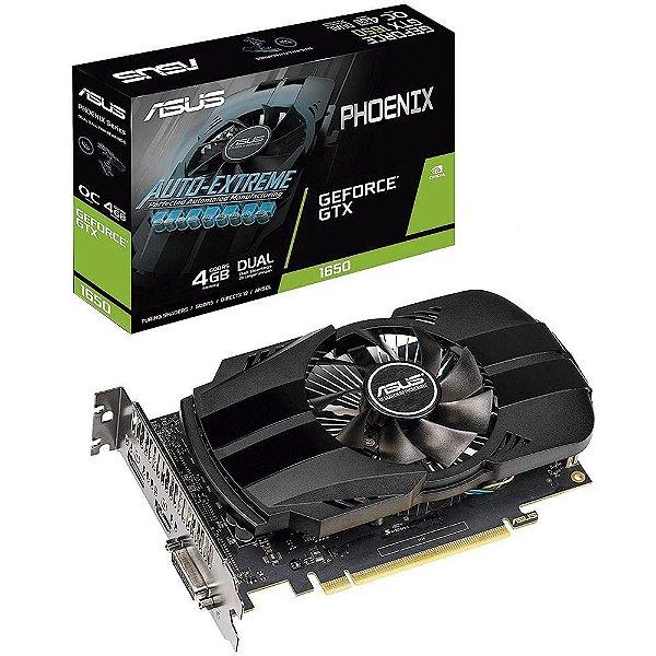 Placa de Vídeo GPU Geforce GTX 1650 OC 4GB GDDR5 - 128 Bits ASUS PHOENIX PH-GTX1650-4G
