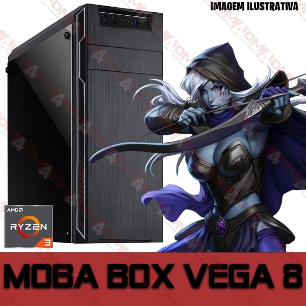 PC Gamer MOBA BOX AMD Ryzen 3 3200G, 8GB DDR4, SSD 120GB, APU RADEON VEGA 8