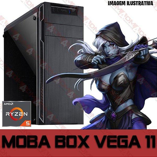 PC Gamer MOBA BOX AMD Ryzen 5 3400G, 8GB DDR4, SSD 240GB, APU RADEON VEGA 11