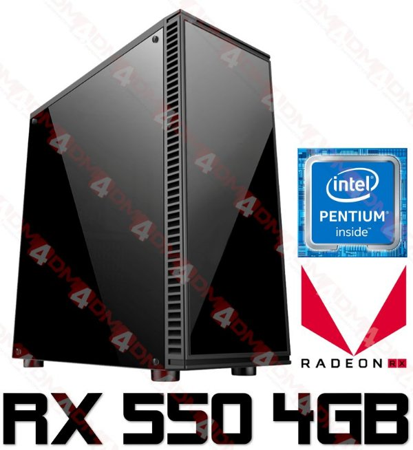 PC Gamer Intel Pentium Coffee Lake G5400, 8GB DDR4, SSD 240GB, GPU AMD RADEON RX 550 OC 4GB