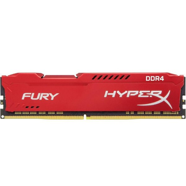 Memória P/ Desktop 8gb DDR4 - 2666 Mhz Kingston HyperX Fury Vermelho HX426C16FR2/8 (1X8gb)