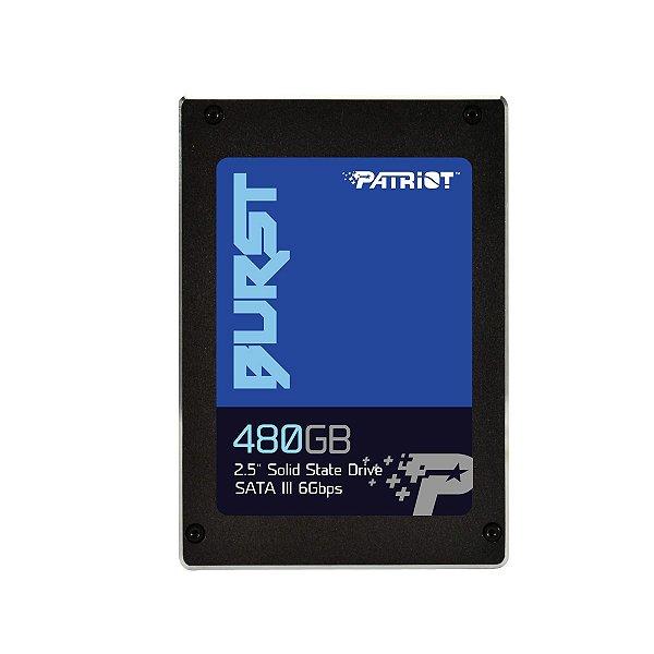 SSD Patriot BURST , 480GB, SATA, Leitura 560MB/s, Gravação 540MB/s - PBU480GS25SSDR