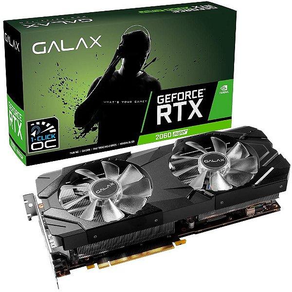 Placa de Vídeo GPU NVIDIA GEFORCE RTX 2060 SUPER EX (1-Click OC) 8GB GDDR6 - 256 BITS - GALAX 26ISL6MPX2EX