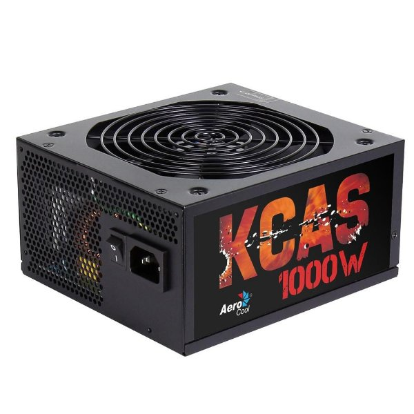 Fonte ATX 1000 Watts Potência Real Modular, Bivolt Automática, AEROCOOL KCAS 1000W - 80% PLUS BRONZE