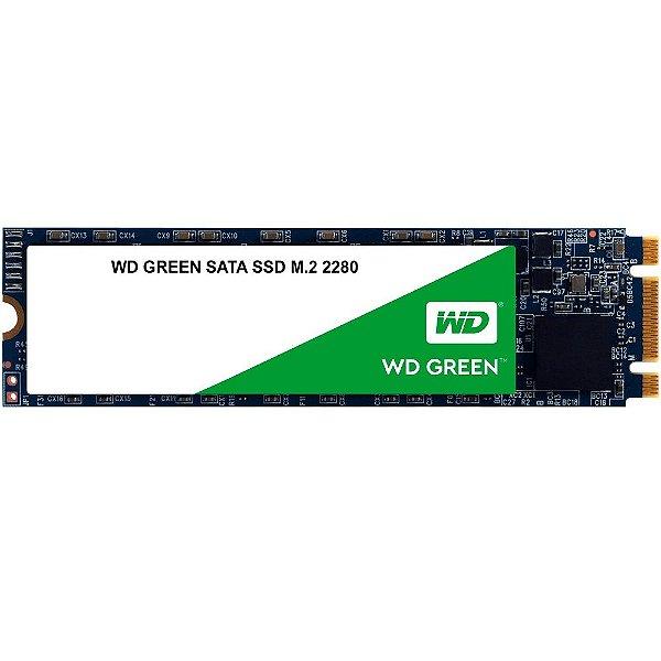 SSD M.2 480GB Western Digital Green M.2 2280 Leituras: 545MB/s - WDS480G2G0B