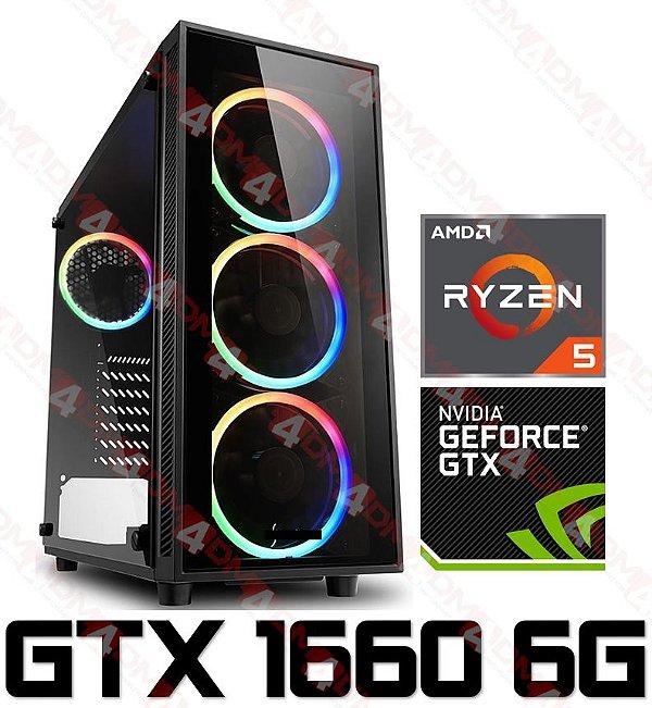 (Recomendado) PC Gamer AMD Ryzen 5 3600, 8GB DDR4, SSD 240GB, GPU GEFORCE GTX 1660 SUPER OC 6GB
