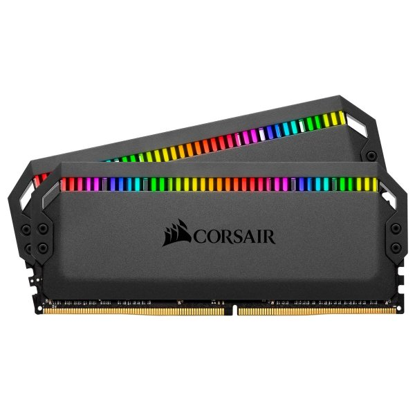 Memória P/ Desktop 16GB DDR4 CL18 3600 MHZ CORSAIR DOMINATOR PLATINUM RGB - CMT16GX4M2C3600C18 (2X8GB)