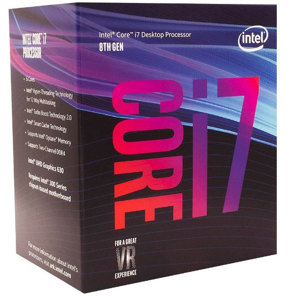 Processador Intel Core I7 Coffee Lake 9700 - 3.0 GHZ (4.7 GHz Max Turbo) C/ 12MB Cache LGA 1151 - BX80684I79700