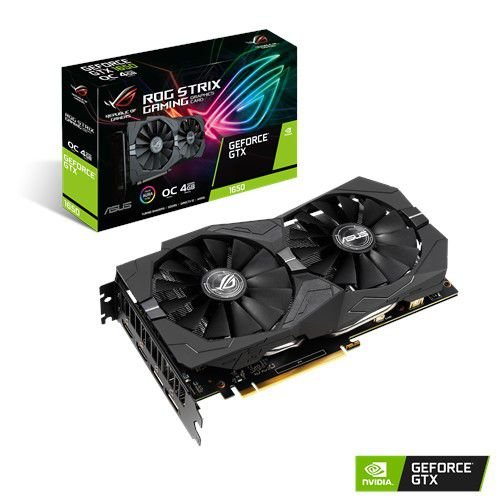 Placa de Vídeo GPU Geforce ROG STRIX 1650 GAMING OC 4GB GDDR5 - 128 Bits ASUS ROG-STRIX-GTX1650-O4G-GAMING