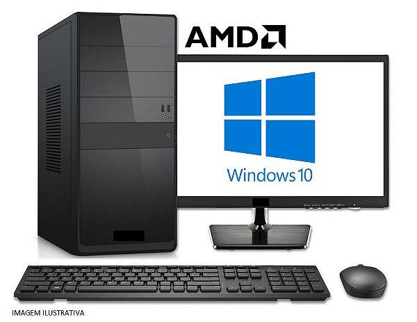 Computador Completo Home Pro AMD Ryzen 3 2200G, 8GB DDR4, SSD 240GB, Monitor LED 19.5