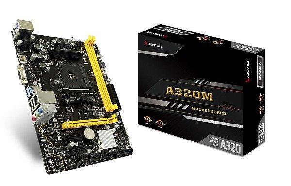 Placa Mãe BIOSTAR CHIPSET AMD A320MH SOCKET AM4