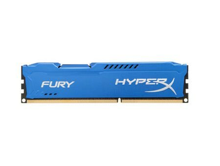 Memória P/ Desktop 8gb DDR3 - 1600 Mhz Kingston HyperX Fury Azul HX316C10F/8 (1X8gb)