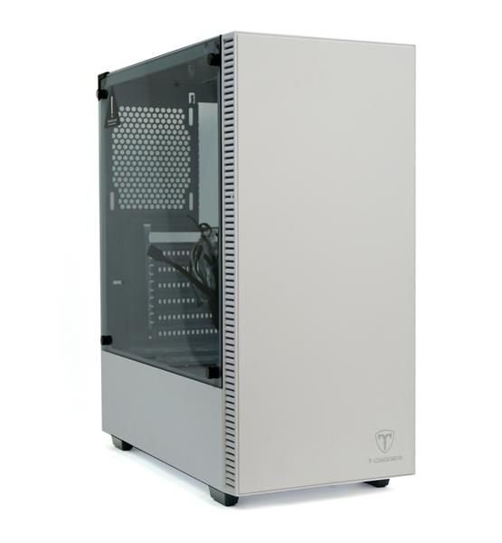 Gabinete Mid Tower Gamer T-DAGGER CUBE White C/ Tampa Lateral em Vidro e USB 3.0 Frontal