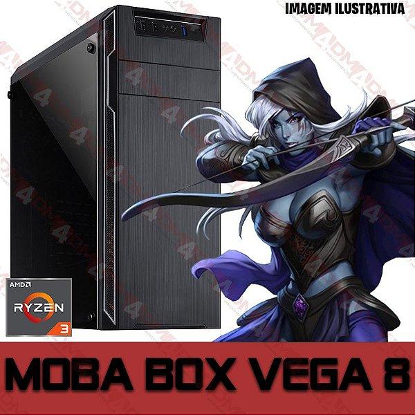 PC Gamer MOBA BOX AMD Ryzen 3 3200G, 16GB DDR4, SSD 480GB, Wi-Fi, APU RADEON VEGA 8