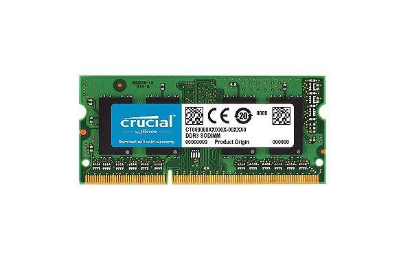 MEMÓRIA P/ Notebook 8GB DDR4 CL19 2666 Mhz CRUCIAL - CT8G48FD8266 (1X8GB)