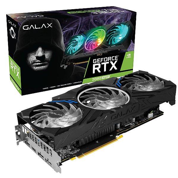 Placa de Vídeo GPU GEFORCE RTX 2080 SUPER WORK THE FRAME BLACK 8GB GDDR6 - 256 BITS GALAX 28ISL6MD49ES