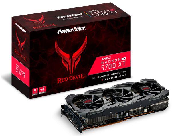 Placa de Vídeo AMD RADEON RX 5700XT 8GB GDDR6 - 256 Bits POWER COLOR RED DEVIL - 8GBD6-3DHE/OC