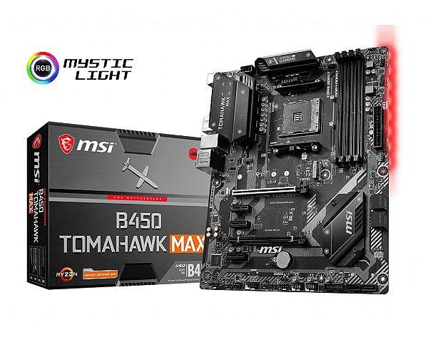 Placa Mãe MSI CHIPSET AMD B450 TOMAHAWK MAX SOCKET AM4
