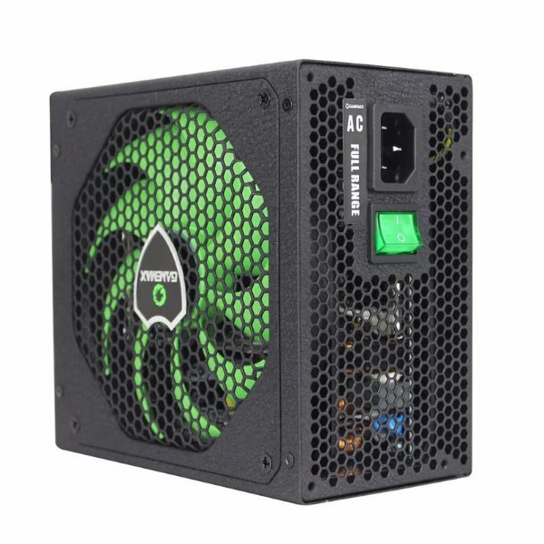 Fonte ATX 650 Watts Potência Real C/ PFC Ativo Bivolt Automático GAMEMAX GM650 Black - 80% Plus Bronze