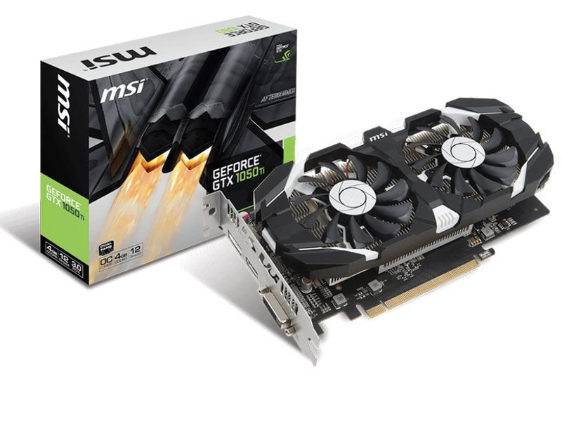 Placa de Vídeo GPU GEFORCE GTX 1050TI OC 4GB GDDR5 - 128 BITS MSI V809-3051