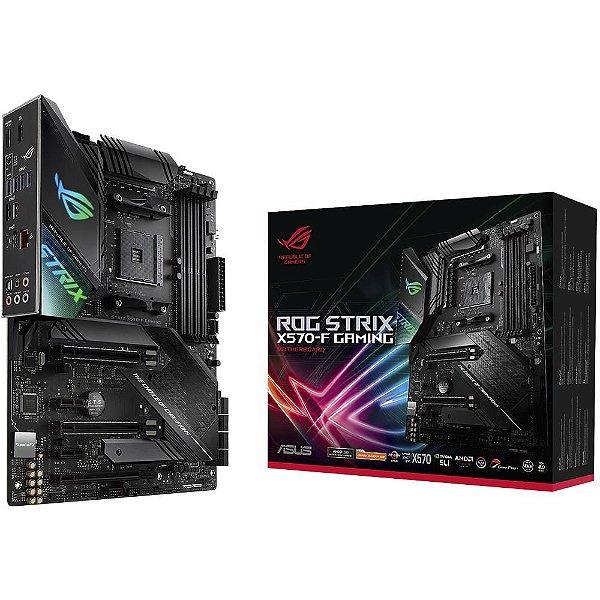 Placa Mãe ASUS ROG STRIX CHIPSET AMD X570-F GAMING SOCKET AM4