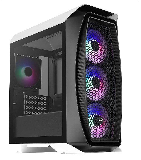Gabinete Micro ATX Gamer AEROCOOL ONE MINI FROST WHITE RGB