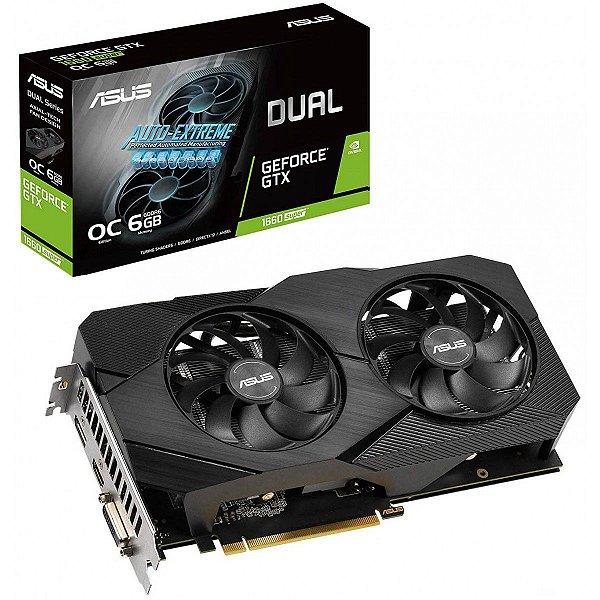 Placa de Vídeo GPU GEFORCE GTX 1660 SUPER 6GB GDDR6 - 192 BITS ASUS DUAL-GTX1660S-O6G-EVO