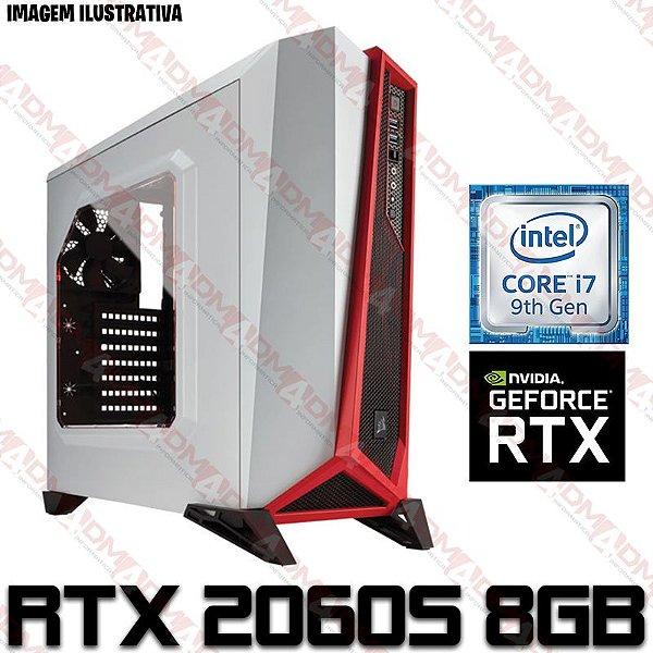 (RECOMENDADO) PC Gamer Intel Core i7 Coffee Lake 9700F, 16GB DDR4, SSD 240GB, HD 1 TERA, GPU GEFORCE RTX 2060 SUPER OC 8GB