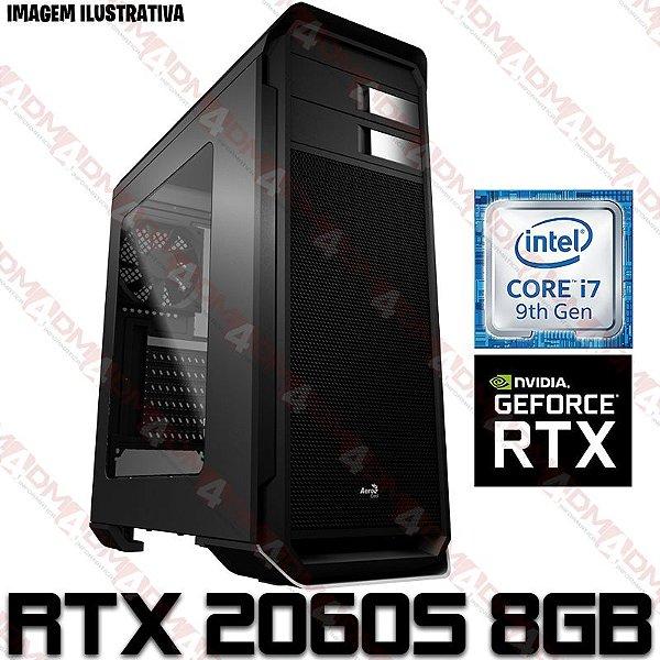PC Gamer Intel Core i7 Coffee Lake 9700F, 32GB DDR4, SSD 480GB, HD 1 Tera, GPU Geforce RTX 2060 Super 8GB